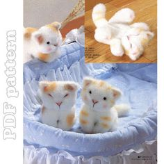 Little Cat Fur Plush and Tutorial Sewing Pattern PDF