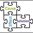 Common Core aligned puzzle to teach cause, effect, and solution in informational text 1.99