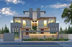 Panash Design Studio - Take a look of our best design list of Commercial Elevation Projects. Two Story House Design, Village House Design, House Design Photos, House Architecture Styles, Architecture Building Design, House Elevation, Building Elevation, Front Elevation, Bungalow House Design