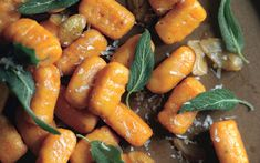 Sweet Potato Gnocchi with Fried Sage and Shaved Chestnuts: 2000s Recipes + Menus : gourmet.com