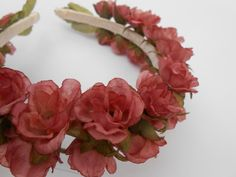 Rustic Blush Rose Hair Wreath.  Bride Flower Girl by TreeTownPaper, $28.00
