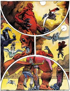 "Moebius - From ""Harzak""  In french sci-fi comics magazine ""Métal Hurlant"" # 2 (Heavy Metal) - Second quarter 1975, Les Humanoïdes Associés, Paris"