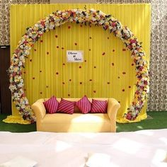 Wedding Backdrop Design, Desi Wedding Decor, Wedding Stage Design, Luxury Wedding Decor, Marriage Decoration, Outdoor Wedding Decorations, Backdrop Decorations, Engagement Stage Decoration, Flower Decorations