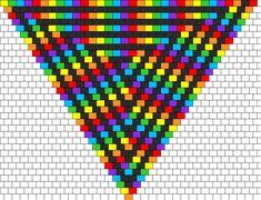 Peyote Bead Patterns   rainbow kandana bead pattern this is a peyote stitch bead pattern ...