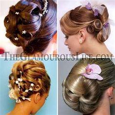 Wedding hairstyles for short hair - stylish updo. short bridal ...