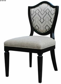 Our curved shield back side chair is both chic and stylish and supremely comfortable