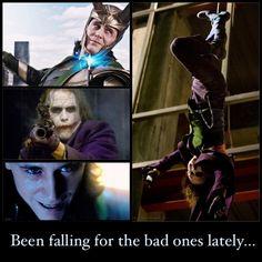 Joker, The Phantom of the Opera, Loki...