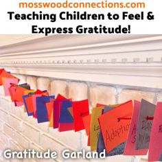 Being grateful is a big part of perspective taking. Gratitude Garlands help children to be more positive and express gratitude about their lives.