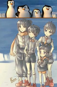 I would say I don't normally pin this kinda thing, but that would be untrue. Also young, humanized penguins? SO CUTE!