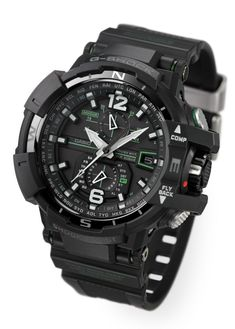 Baselworld Casio's Newest G-Shock Gravity Defier Aviator Watches - second hand watches, online shopping watch for man, cheap name brand watches *ad Casio G Shock Watches, Sport Watches, Casio Watch, Dream Watches, Cool Watches, Watches For Men, Wrist Watches, Men's Watches, Armani Watches