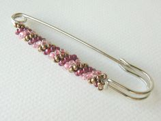 Charlotte Jewelry Box - Pink and Burgundy Safety Pin Brooch Knit ...