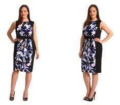 Summer Work Wear: The Shift Dress #calvinklein #zappos #plussize