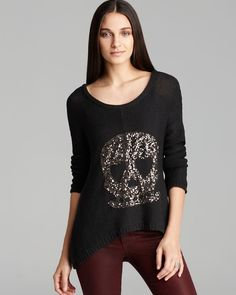 Vintage Havana Sweater - Sequin Skull from Bloomingdale's on shop.CatalogSpree.com, your personal digital mall.