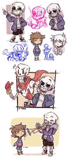 Undertale Doodles #1 by Z-T00N.deviantart.com on @DeviantArt
