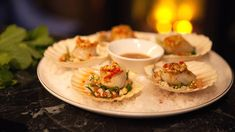 Take care not to over-cook these delicate scallops. The sweet, caramelised meat matches perfectly with a light, zesty cucumber and daikon salsa, and chilli Asian dressing. Fish Recipes, Seafood Recipes, Olive Oil Dressing, Sbs Food, Toasted Sesame Seeds, Roasted Peanuts, All Vegetables, Snack Bar, Fish Sauce