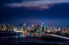 Panama City, Panama  at night.