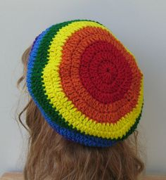 Slouchy Rainbow Diversity Hippie Dreadlock by PurpleSageDesignz, $20.00