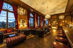 Old World luxury at the Grand Hotel Les Trois Rois, Basel Luxury Restaurant, Leading Hotels, Elegant Dining Room, New Interior Design, Modern Buildings, Grand Hotel, Basel, Mid Century Design, Best Hotels