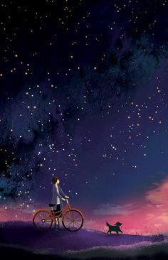 starry night illustration