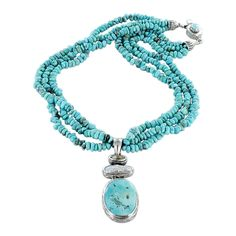 PERSIAN TURQUOISE Necklace with Pearl and Gold Quartz