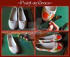 Paint on Crocs Shoes by areemus.deviantart.com on @DeviantArt