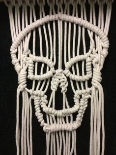 Interesting #macrame #scull