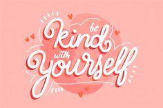 Cita con tema de amor propio | Free Vector #Freepik #freevector #amor #tipografia #cita #fuente Typography Love, Typography Quotes, Typography Letters, Typography Inspiration, Lettering Design, Branding Design, Letras Cool, Image Positive, Happy Words