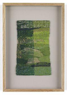 "Sheila Hicks, ""Fallen Tree, Floating (green, gold)"", cotton, silk, metallic fibers"
