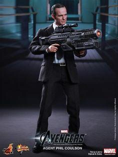Hot Toys do Agente Coulson! Clark Gregg, Hot Toys, Os Vingadores, Phil Coulson