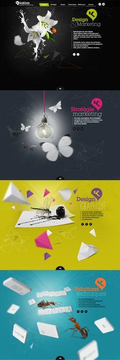 KALIXO - Agence web à Rennes French web agency Stratégie Marketing Design graphique Solutions techniques Site web avec effet parallaxe / Website with parallax effect www.kalixo.fr