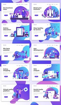 Buy Landing Page Template on Various Topics by on GraphicRiver. Landing page template on various topics. Modern flat design concept of web page design for website and mobile website. Layout Design, Design De Configuration, Graphisches Design, Web Layout, Icon Design, Footer Design, Design Homes, Design Ideas, Resume Design