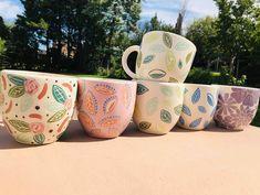 Ceramic Decor, Ceramic Cups, Watercolour Drawings, Nautical Flags, Glaze Paint, 3d Crystal, Moon Design, Painted Pots, Dinnerware Sets