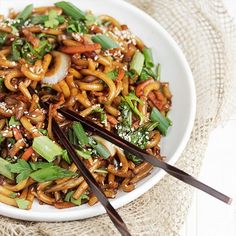 Spicy Udon and Vegetable Stir Fry