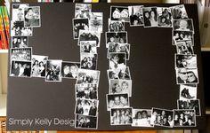 40th Birthday Photo Collage by Simply Kelly Designs #birthday #DIY