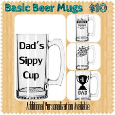 Father's Day Beer Mug Silhouette Projects, Silhouette Cameo, Mugs For Men, Fathers Day Quotes, Vinyl Gifts, Beer Mugs, Vinyl Projects, Project Ideas, Craft Ideas