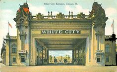 The World's Columbian Exposition of 1893 left Chicagoans with an appetite for a wide variety of new amusements and entertainment. Vintage Architecture, Historical Architecture, Architecture Details, Chicago River, Chicago City, Chicago School, Chicago Illinois, World's Columbian Exposition, Chicago Cubs World Series