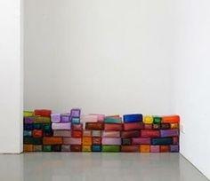 Maria Roosen - Wall (2015)  #mariaroosen #wall #glass #sculpture #glasssculpture #glassart #glasswall #colours #bricks #glassbricks #colourful #artinstallation #artwork #contemporaryart #contemporary #artoftheday #aotd #artdaily