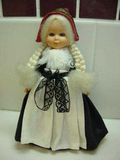 Dolls From Europe | Celluloid Doll in European Costume - Girl Doll