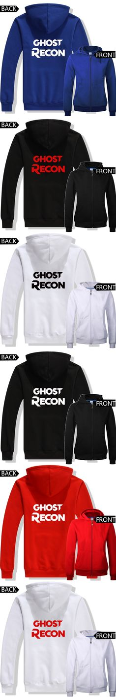 GHOST RECON costumes New game concept hoodies Ghost recon zip-up hoodies European sizes game fans Autumn Winter hoodies ac592