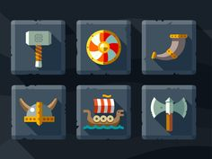 Saved by Oleg Beresnev (beresnev). Discover more of the best Icon, Viking, Vikings, Beer, and Dragon inspiration on Designspiration Game Design, Icon Design, Design Art, Flat Design, Graphic Design, Creative Icon, Creative Inspiration, Design Inspiration, Shield Icon