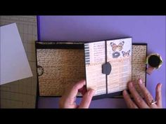 Mini Insert Tutorial (Previous Insert I had Made for Donna) very well done video. Mini Albums, Mini Photo Albums, Tutorial Scrapbook, Mini Album Tutorial, Album Book, Mini Scrapbook Albums, Handmade Books, Book Making, Bookbinding