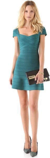Cap Sleeve A Line Dress - Lyst