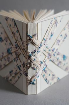 Really interesting way to bind a book. I think this can be done after the book has been bound.