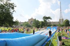 (Alexandra Palace) Weird Things To Do In England This Summer: Whizz down a giant waterslide in London (This summer, lovers of all things fun are invited to don their swimwear, grab a dinghy and whizz down Alexandra Park hill on a 100-metre white knuckle ride. Big kids who fancy sliding down the Giant Waterslide can head to Alexandra Palace's Summer Festival on 22 July 2017.)