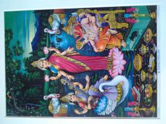 A Lovely 1930's Lithograph of the Hind Goddess of by Lallibhai, £25.00