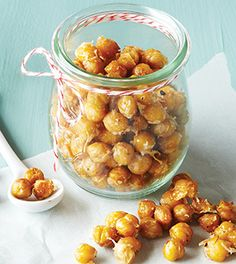 Garlic Parmesan Roasted Chickpeas With Chickpeas, Olive Oil, Minced Garlic, Sea Salt, Ground Black Pepper, Grated Parmesan Cheese