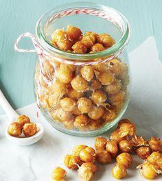Garlic Parmesan Roasted Chickpeas