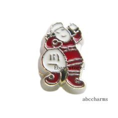 10pcs Santa Claus Floating charms For Glass living memory Locket FC1114