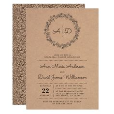 rustic floral wreath rehearsal dinner invitation floral gifts flower flowers gift ideas