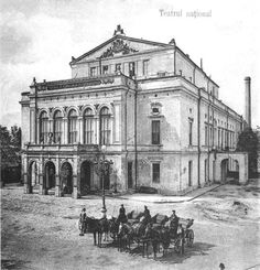 teatrul national old Bucharest little Paris Romania vechiul Bucuresti